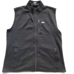 Patagonia Vest Full Zip Black Knit Fleece Interior